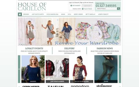 Screenshot of Home Page houseofcarillon.co.uk - Shop and Discover our range of clothing for Women at House of Carillon - captured Sept. 30, 2014