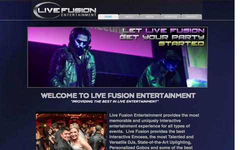 Screenshot of Home Page livefusionentertainment.com - LIVE FUSION ENTERTAINMENT - captured Sept. 30, 2014