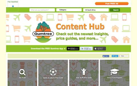 Screenshot of Site Map Page gumtree.co.za - Gumtree Content | Free Classifieds South Africa - captured Dec. 16, 2016