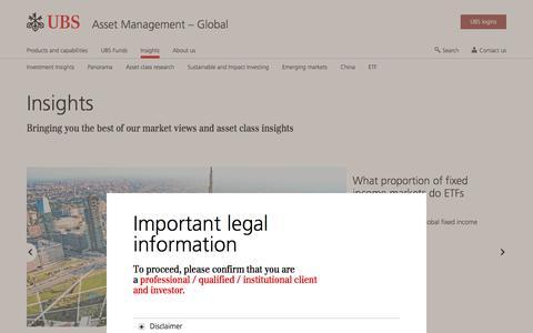 Screenshot of Team Page ubs.com - Insights | UBS Global topics - captured Nov. 14, 2019