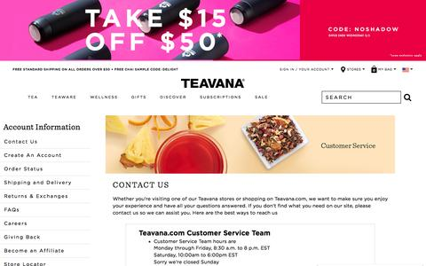 Teavana Customer Service | Contact Us