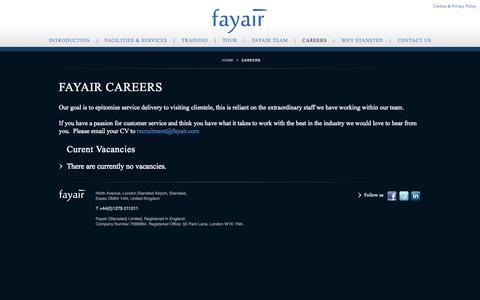 Screenshot of Jobs Page fayair.com - Fayair :: Careers - captured Oct. 5, 2014