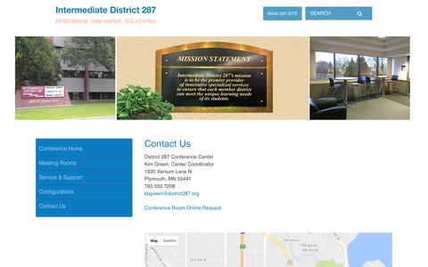 Screenshot of Contact Page district287.org - Intermediate District 287: Contact Us - captured Jan. 25, 2017
