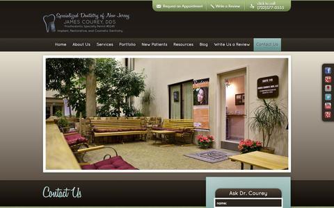 Screenshot of Contact Page buildinggreatsmiles.com - Dentist in Manalapan NJ | James Courey DDS | Contact - captured Oct. 6, 2014