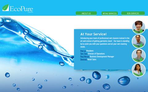 Screenshot of Team Page ecopurecleaners.com - Our Company - captured July 11, 2016