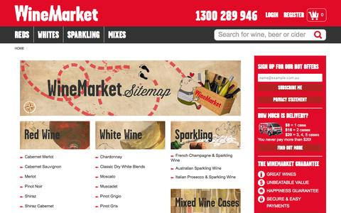 Screenshot of Site Map Page winemarket.com.au - WineMarket Sitemap - Navigate Our Site Easily - captured Sept. 25, 2014