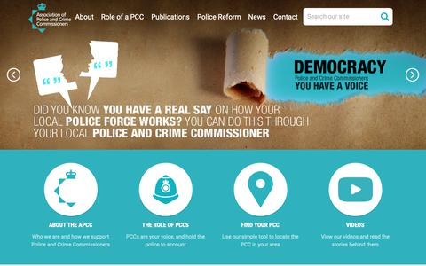Screenshot of Home Page apccs.police.uk - APCC - The Association of Police and Crime Commissioners - captured Nov. 28, 2018