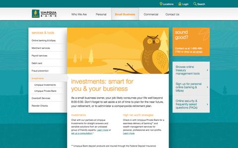 Umpqua Bank investments for your business from our partners at Umpqua Investments