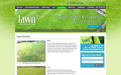 Screenshot of Case Studies Page lawn3.com - Case Studies | derby.lawn3.com - captured Oct. 2, 2014
