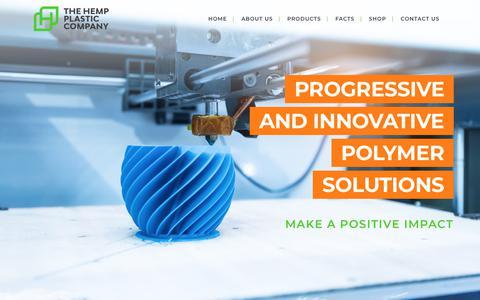 Screenshot of About Page hempplastic.com - About Us - Hemp Plastic - captured Dec. 8, 2018