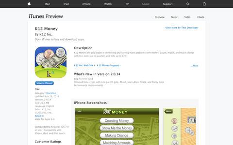 K12 Money on the App Store