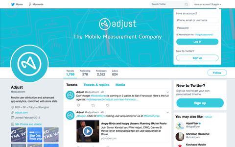 Adjust (@adjustcom)   Twitter