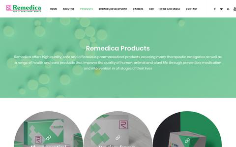 Screenshot of Products Page remedica.eu - Remedica Ltd - Our Products - captured May 29, 2019