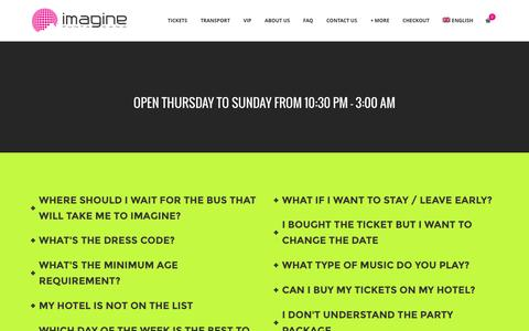 Screenshot of FAQ Page imaginepuntacana.com - FAQ - Imagine Punta Cana - captured Aug. 5, 2016