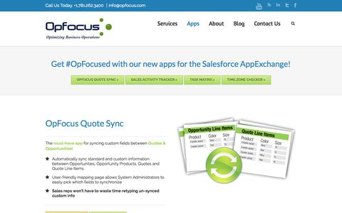 OpFocus Apps for Salesforce AppExchange | OpFocus, Inc.
