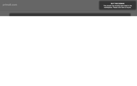 Screenshot of Home Page prima9.com captured April 17, 2018