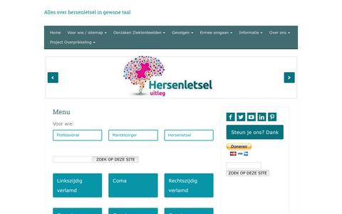Screenshot of Menu Page hersenletsel-uitleg.nl - Menu | Hersenletsel-uitleg.nl - captured July 14, 2016