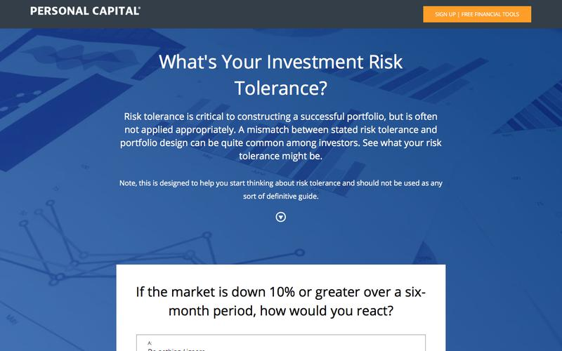 Personal Capital Risk Tolerance Quiz