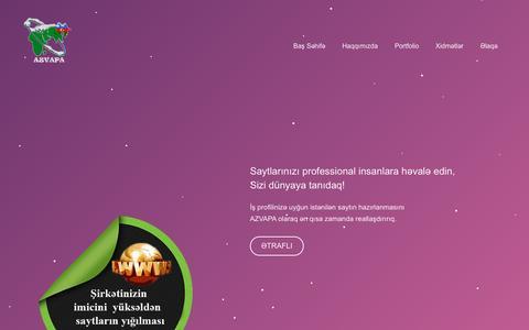 Screenshot of Home Page azvapa.com - AZVAPA - Azərbaycan - captured Jan. 27, 2015