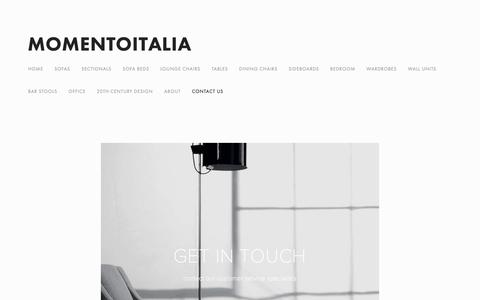 Screenshot of Contact Page momentoitalia.com - Momentoitalia Italian Furniture contact us   Italian Design — Modern Italian Furniture   Momentoitalia - captured Nov. 14, 2018