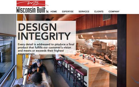 Screenshot of Home Page wisconsin-built.com - Wisconsin Built- Architectural Woodwork - captured Sept. 20, 2018