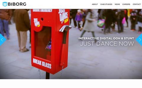 Screenshot of Home Page biborg.com - Biborg | Innovative Brand Experiences - captured Jan. 2, 2016