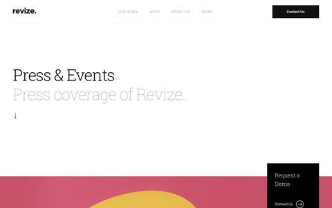 Screenshot of Press Page revize.com - The Local Government Web Design Experts Government CMS providers Revize - captured June 22, 2018