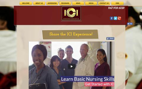 Screenshot of Press Page ici-training.com - ICI CNA School Chicago IL - captured Oct. 12, 2018