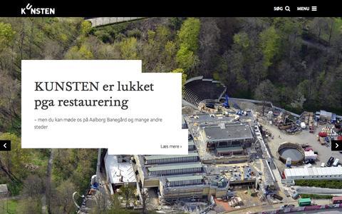 Screenshot of Home Page kunsten.dk - KUNSTEN | Museum of Modern Art Aalborg - captured June 21, 2015