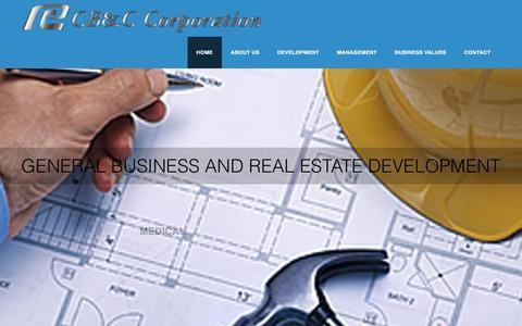 Screenshot of Home Page cbccorpgroup.com - CB & C Corporation - captured Oct. 2, 2016