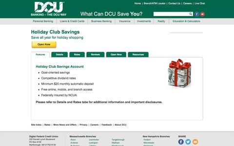 Holiday Club Savings Account | DCU | Massachusetts | New Hampshire