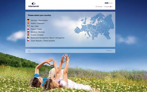 Screenshot of Home Page interseroh.com - Verteilerseite - Interseroh - captured Sept. 30, 2014