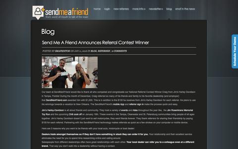 Screenshot of Blog sendmeafriend.com - Blog - Sendmeafriend.com - captured Jan. 16, 2016