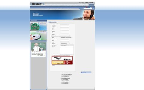 Screenshot of Contact Page bergquistcompany.com - Contact Us ~ Thermal Interface Material, Thermal Management ~ The Bergquist Company - captured Oct. 26, 2014