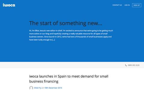 Screenshot of Blog iwoca.co.uk - iwoca - Blog - captured Jan. 3, 2017