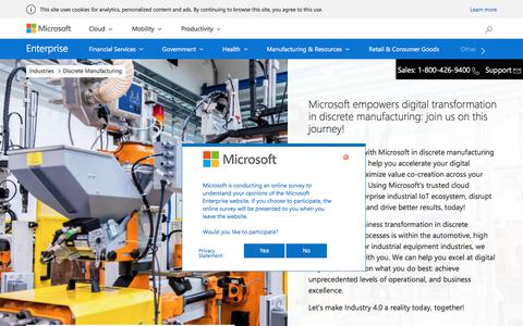 Discrete Manufacturing - Microsoft Enterprise