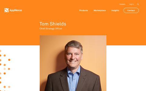 Screenshot of Team Page appnexus.com - Tom Shields | AppNexus - captured June 22, 2018