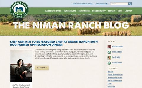 Screenshot of Blog nimanranch.com - The Niman Ranch Blog: Farm Stories, Restaurant Guides, and more! - captured Sept. 24, 2018