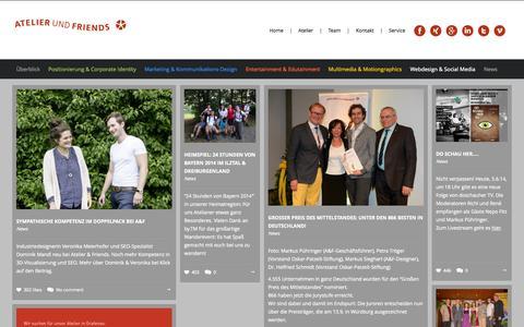 Screenshot of Press Page atelierundfriends.de - News - Atelier & Friends - captured Oct. 4, 2014