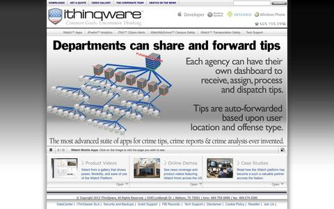 Screenshot of Home Page ithinqware.com - ~ iWatch ~ The most complete community policing solutions ever invented. - captured Sept. 30, 2014