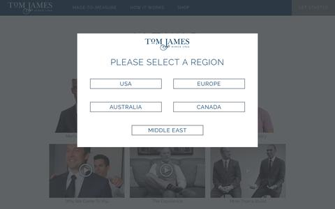 Screenshot of Press Page tomjames.com - News | Tom James Company | Custom Suits | Custom Shirts | Custom Clothing | Personal Tailor - captured Feb. 16, 2016