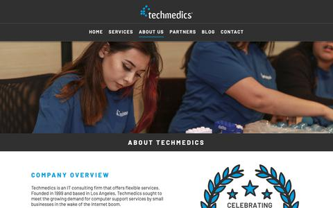 Screenshot of About Page techmedics.com - About Us - Learn more about the Techmedics team - captured June 19, 2019