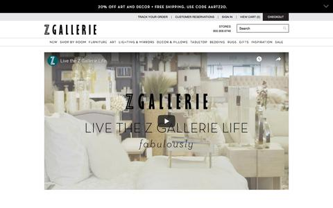 Screenshot of About Page zgallerie.com - About Us | Home Decor | Affordable & Modern Furniture | Z Gallerie - captured Sept. 15, 2019