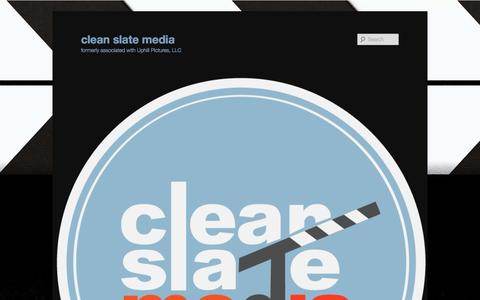 Screenshot of Home Page uphill-pictures.com - Film Production Companies in Arizona | UpHill Picturesclean slate media | formerly associated with Uphill Pictures, LLC - captured Aug. 12, 2015