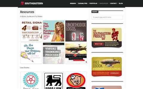 Screenshot of Case Studies Page southeasternproducts.com - Resources | Southeastern - captured Oct. 26, 2014