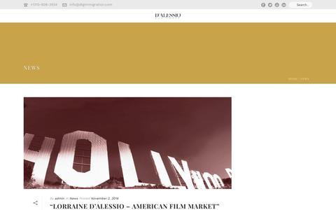 Screenshot of Press Page dlgimmigration.com - News – D'Alessio Law Group - captured Nov. 17, 2016