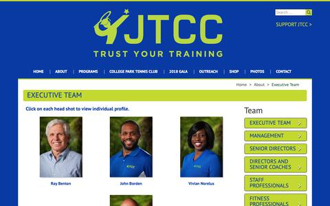 Screenshot of Team Page jtcc.org - Executive Team - - captured Oct. 14, 2018