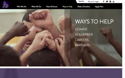 Screenshot of Jobs Page aplusyouthprogram.org - A PLUS Youth Program - captured Sept. 30, 2014