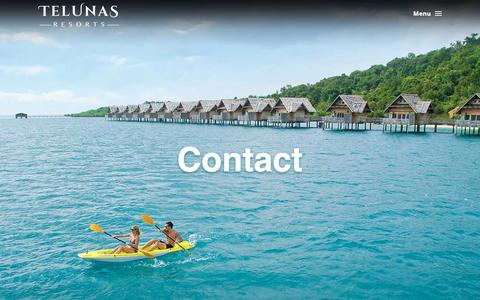 Screenshot of Contact Page telunasresorts.com - Plan a Relaxing Resort Escape | Telunas Resorts - captured Nov. 4, 2018