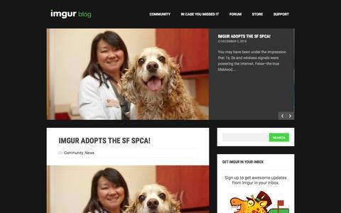 Screenshot of Blog imgur.com - The Imgur Blog - captured Dec. 3, 2015